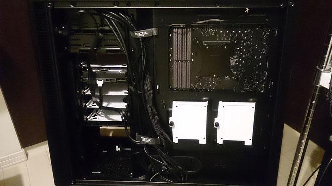 自作PC組み立て後 裏配線