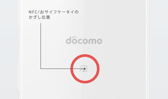 XPERIA X Compact NFC おサイフケータイ 位置
