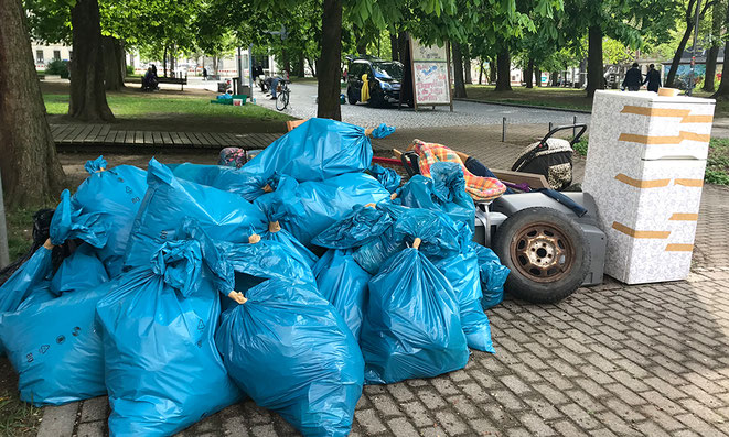 clean up, explainora, sonnenberg, lessingplatz, chemnitz, naturschutz