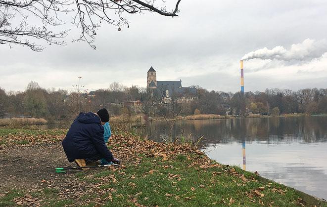 Schlossteich, Chemnitz, schloßteich, clean up, explainora, plastikmüll, umwelt, müllproblem