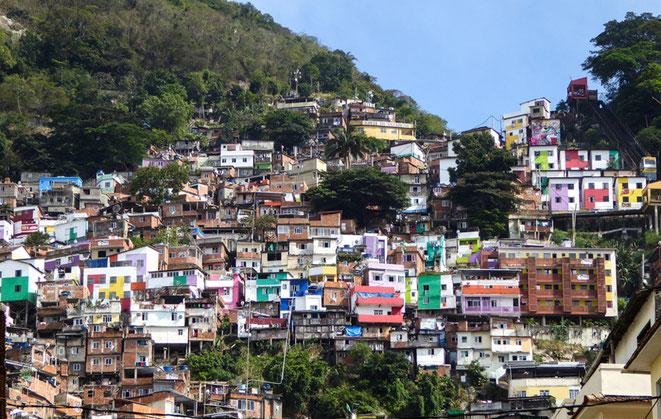 Rio de Janeiro, Santa Marta, Favela, Botafogo, Aussicht, Plastik