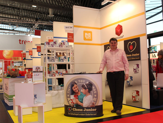 Herbert Thanner, Author and Inventor of Chess Junior at the International Toy Fair Nuremberg