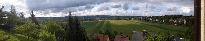 Blick auf die Stadt Pößneck in Thüringen