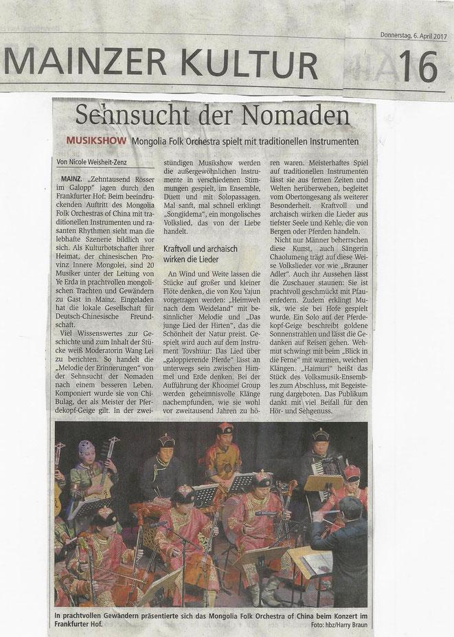 Rhein-Main-Presse / Allgemeine Zeitung / Ausgabe 6.4.2017