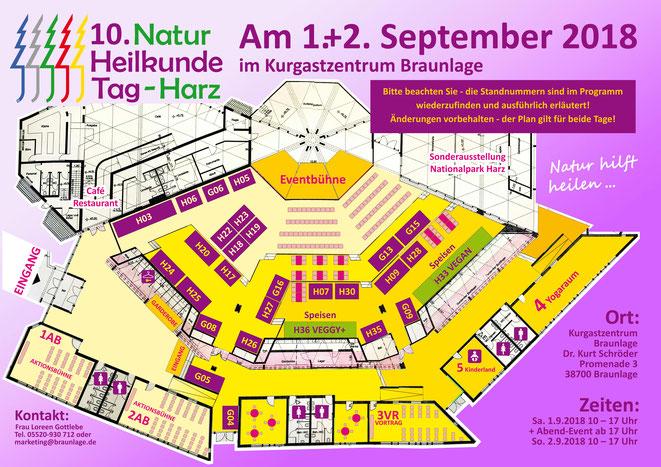 Aktueller Standplan für den 10. NHT-Harz
