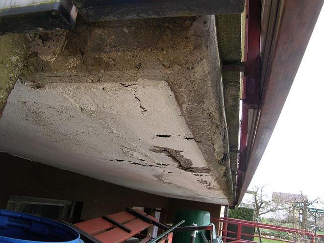 Frostschaden Beton Balkon