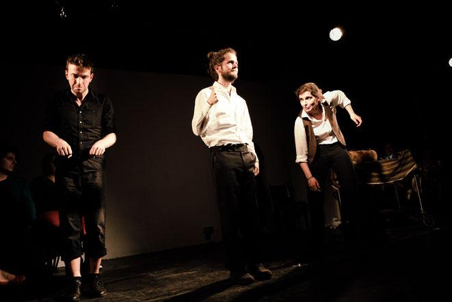 Michel mit Peter Rech und Emilia Meincke (v.l.n.r.) auf der Schiller Killer-Fight Night 2016 im Haus73