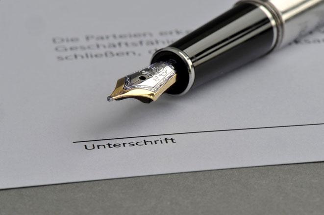 Unterschriftenfälschung | Detektei | Detektiv | Privatdetektiv | Wirtschaftsdetektei