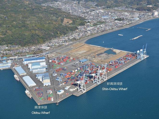 Shin-Okitsu wharf · Okitsu No.1 wharf