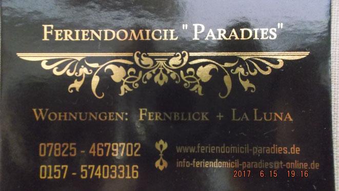 Wir sind auch in Booking.com vertreten oder Anfragen unter: paradies.urlaub@yahoo.com
