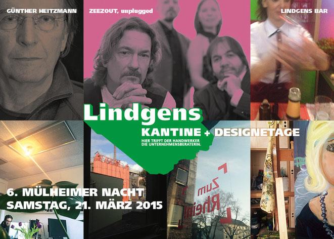 Beitrag der Lindgens KANTINE + DESIGNETAGE, am Mülheimer Hafen gelegen, zur 6. Mülheimer Nacht