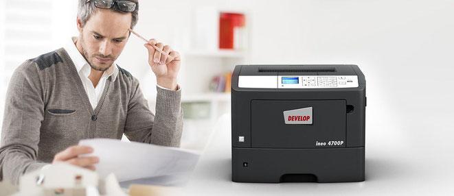 Develop ineo 4700P printer