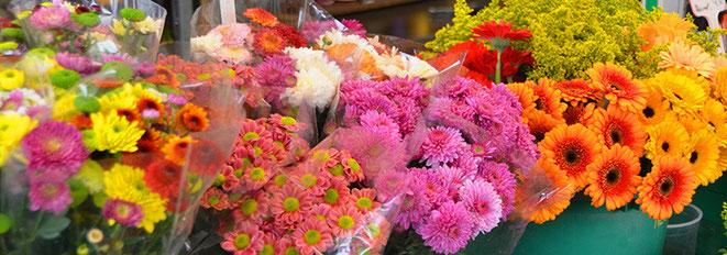 Diese Blumenvielfalt symbolisiert: Märkte sind kleine Paradiese für anspruchsvolle Kunden.