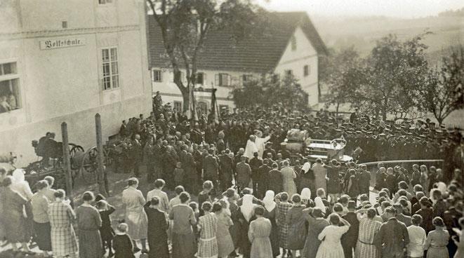 1929 Weihe der neuen Motorspritze