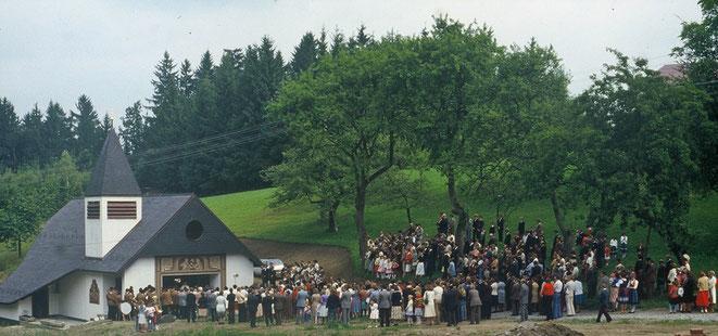 1978 Segnung der Bründlkapelle