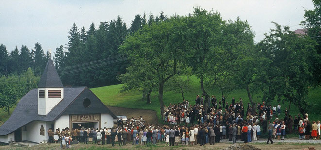1978 Segnung der Bründlkapelle (Foto: Rudolf Groisshammer)