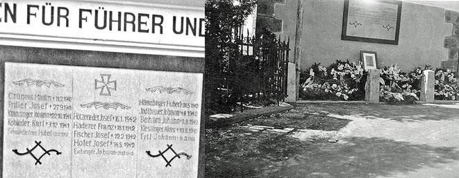 Gedenken für die Gefallenen (vor dem Leichenhaus): Die Liste wurde immer länger ...