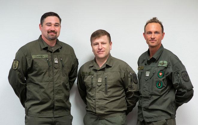 StWm HÜRNER Jürgen, OStv HANDLER Jürgen, OStWm STAMPFER Andreas