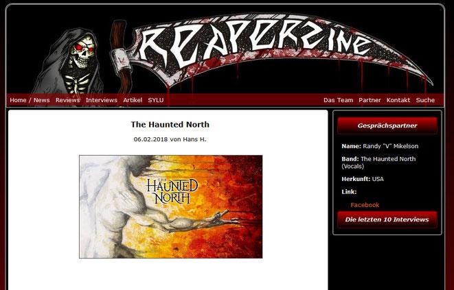 "Interview mit Randy ""V"" Mikelson im Reaperzine.de"