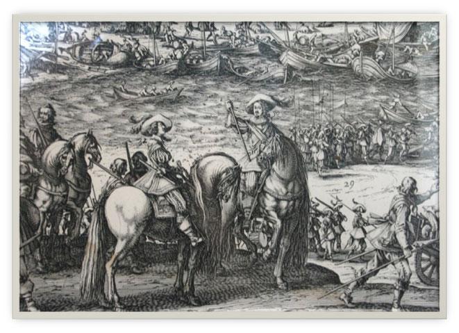 Autour de la citadelle, gravure eau forte de Callot, 1628, coll. Château de Monbazillac