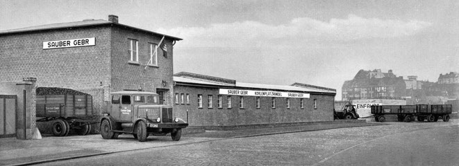 Kohlelager Osterbekstraße 29-33 nach dem Wiederaufbau 1951