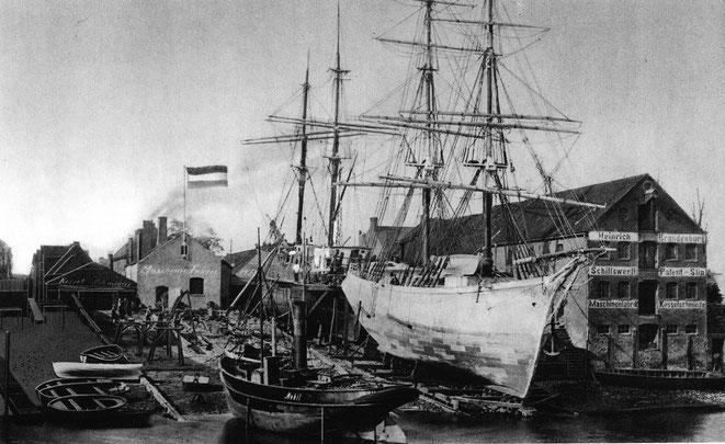 Werft Heinrich Brandenburg 1880