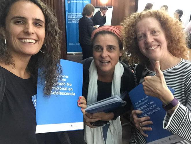 Dras. Catalina Morán, Vilda Discacciati y Daniela Epstein