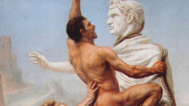 Le sac de Rome par les Wisigoths, 1890. Crédit : Wikimedia