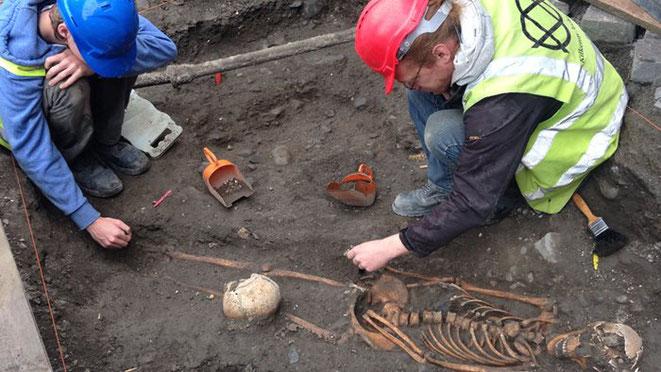 Squelette médiéval Irlande