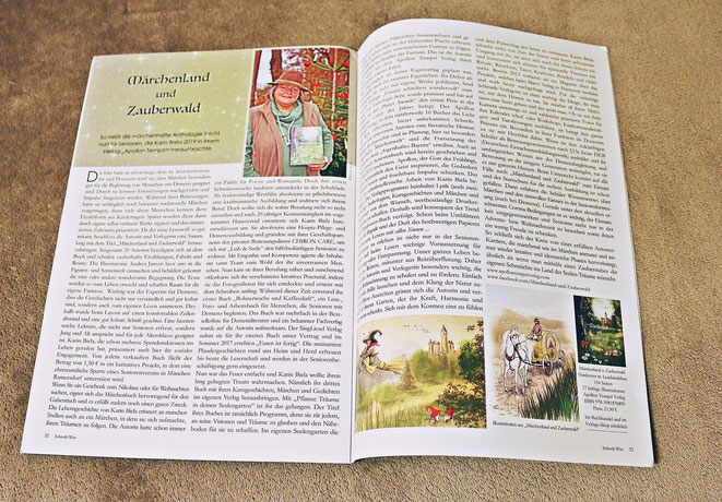 """Artikel über die Anthologie """"Märchenland und Zauberwald"""" und die Arbeit der Autorin, Verlegerin und Dozentin Karin Biela"""