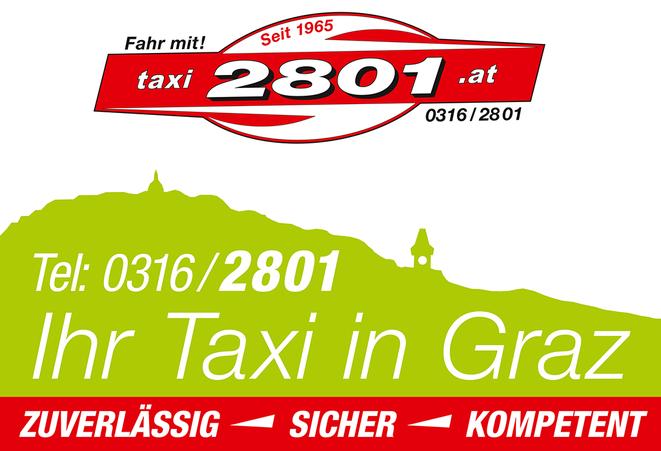 Taxi 2801: ZUVERLÄSSIG – SICHER – KOMPETENT