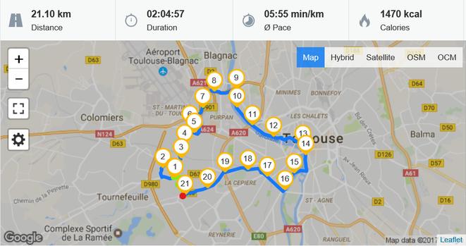 freaky finance, freaky running, freaky routine, Halbmarathon, Toulouse, runtastic