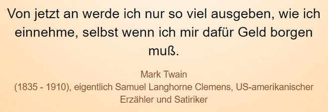 freaky finance, Screenshot, Zitat, Mark Twain, Schulden