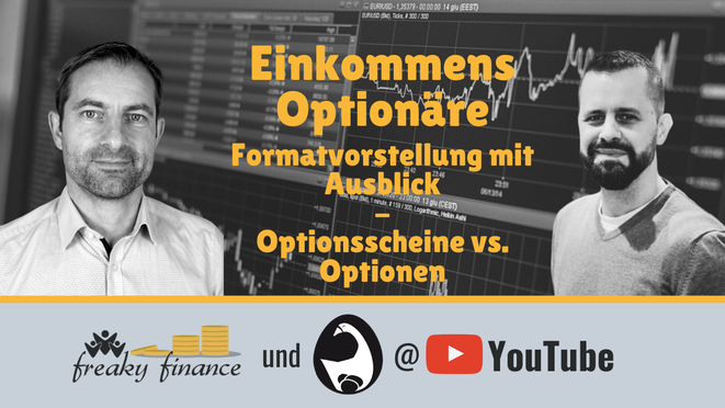 freaky finance, Podcast, Die Einkommensoptionäre, Luis Pazos, Vincent Willkomm, Hochdividendenwerte, Optionshandel