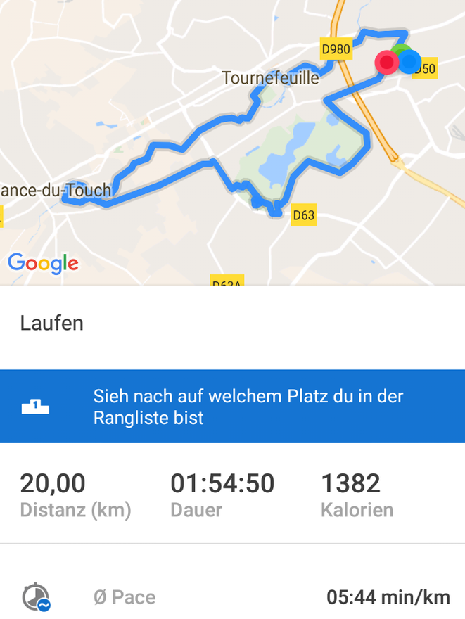 freaky running, laufen, runtastic, Training, Toulouse