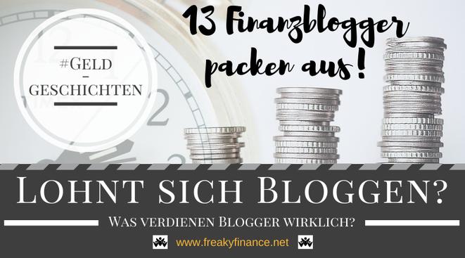 freaky finance, Geld verdienen mit dem Blog, Was verdienen Blogger?, Geldstücke, Uhr