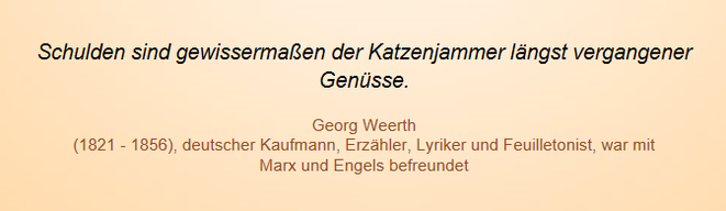 freaky finance, Screenshot, Zitat, Georg Weerth, Schulden