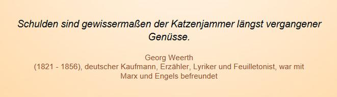 freaky finance, Screenshot, Zitat, Georg Weerth, Schulden