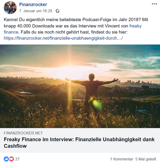 freaky finance, Finanzrocker-Podcast, Interview, Mann im Sonnenuntergang vor einer Skyline