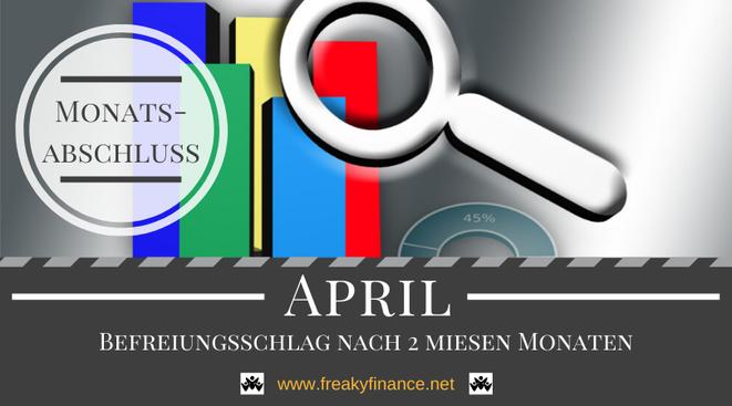 Der freaky finance Monatsabschluss April 2020. Erfahre mehr über meine Einnahmen durch Zinsen, Mieten und alternative Investment. Nimm mit mir gemeinsam mein Gesamtvermögen unter die Lupe.
