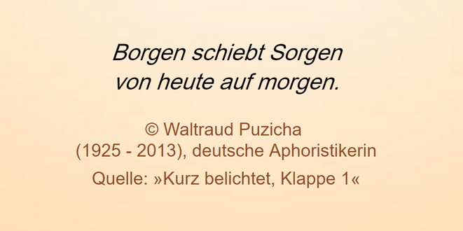 freaky finance, Screenshot, Zitat, Waltraud Puzicha, borgen