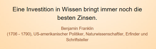 freaky finance, Screenshot, Zitat, Benjamin Franklin, Investition