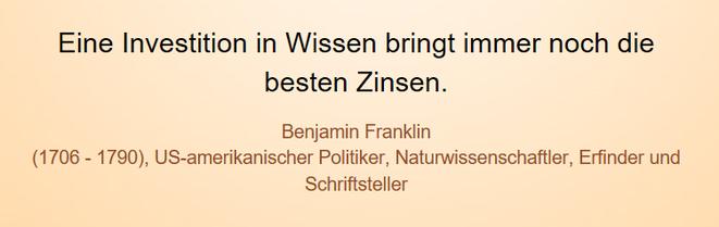 freaky finance, Screenshot, Zitat, Benjamin Franklin, Investition