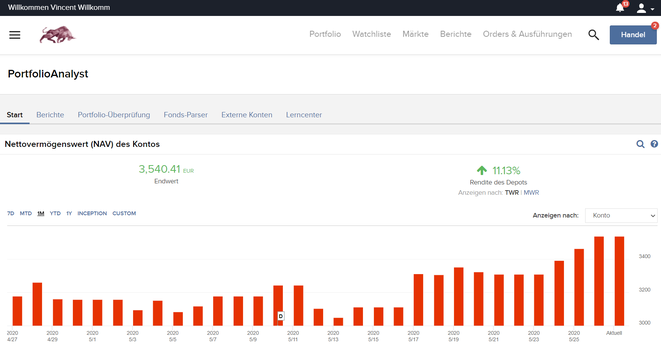 freaky finance, Interactive Broker Kontoverwaltung, PortfolioAnalyst