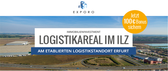 freaky finance, Exporon, Anleihen-Projekt Logistikzentrum im Ilz bei Erfurt, 6% Zinsen, 19 Monate Laufzeit