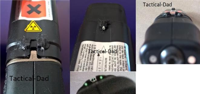 Das Tritiumvisier auf meiner Jet Protector (JPX) Pfefferpistole ermöglicht mir auch in der Dunkelheit ein klares Visierbild.