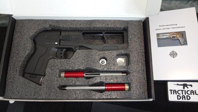 Entgültiger Entwurf der Airringer Pfeilpistole für die Massenproduktion. Quelle: http://www.waffenpassionunited-wpu.com/t3529f44-aeusserst-wirksame-VerteidigungsPistole-zum-Fuehren-14.html