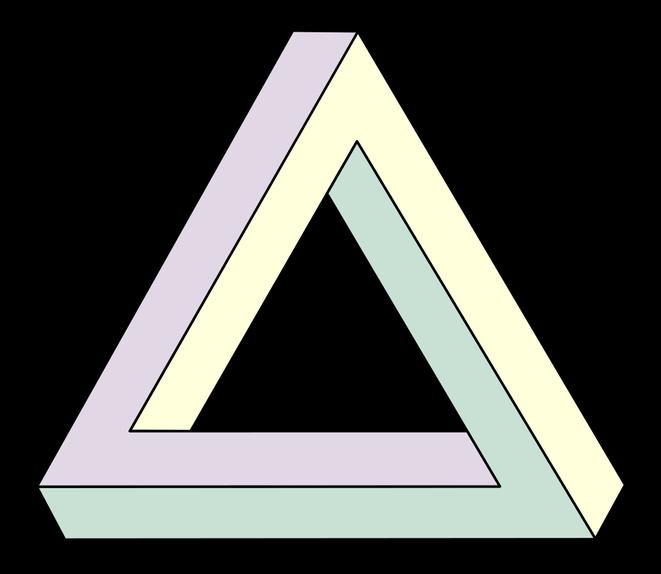 ペンローズの三角形 (ロジャー・ペンローズwiki/Wikimedia Commonsより)