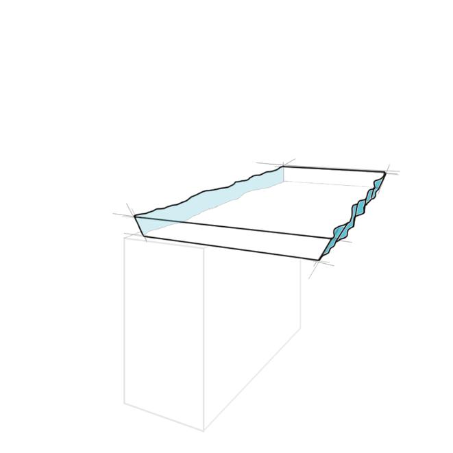Tresenplatte Naturkante aufsteigend