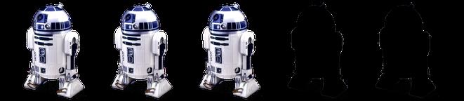 3 von 5 R2-D2s